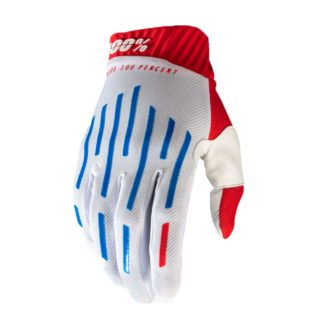 100% | GLOVE  RIDEFIT – RED/WHITE/BLUE