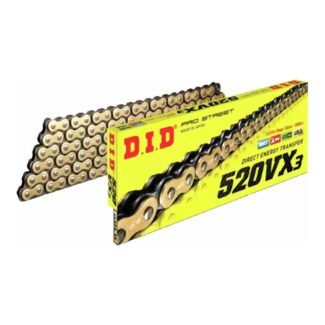 D.I.D | 520VX3 120 LINK CHAIN (GOLD/BLACK)