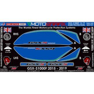MOTOGRAFIX | KNEE SECTION PAINT PROTECTOR | SUZUKI GSX-S/F 1000 (15-19)