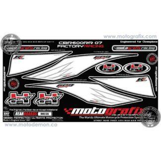 MOTOGRAFIX |REAR NUMBER BOARD | HONDA CBR600RR (07-08)
