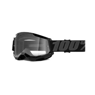 100% GOGGLES | STRATA 2 | BLACK – CLEAR