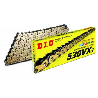 D.I.D | 530VX3 120 LINK CHAIN (GOLD/BLACK)