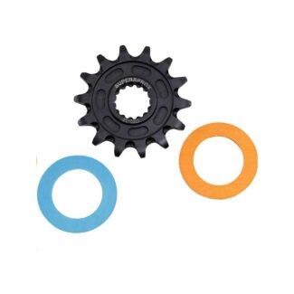 SUPERSPROX | STEEL FRONT SPROCKET KTM/HUSQVARNA – BLUE/ORANGE 14T