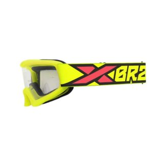 EKS-BRAND | X-GROM FLO YELLOW/BLACK/FIRE RED YOUTH GOGGLES – CLEAR LENS