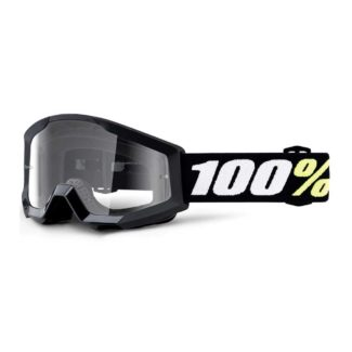 100% | STRATA MINI YOUTH GOGGLES BLACK – CLEAR LENS