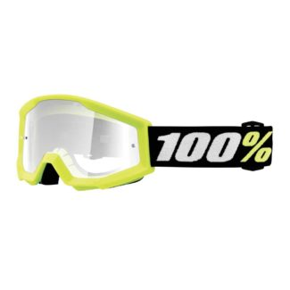 100% | STRATA MINI YOUTH GOGGLES YELLOW- CLEAR LENS