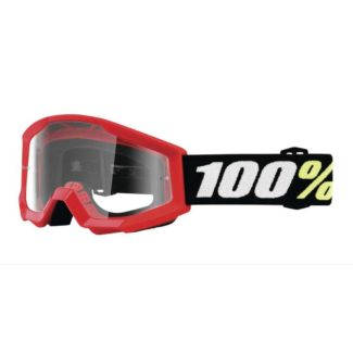 100% | STRATA MINI YOUTH GOGGLES RED – CLEAR LENS