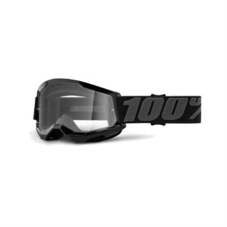 100% GOGGLES | STRATA 2 YOUTH | BLACK – CLEAR