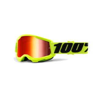 100% GOGGLES | STRATA 2 YOUTH | YELLOW – RED MIRROR
